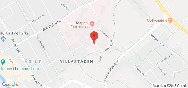 falu lasarett karta Akutmottagning Falun, Falu lasarett   Vården.se falu lasarett karta